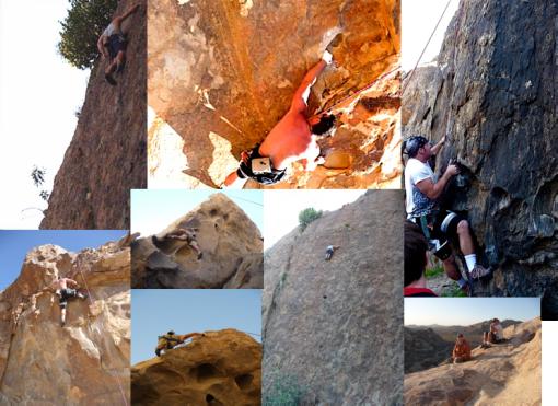 climbing collage
