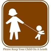 children on leash